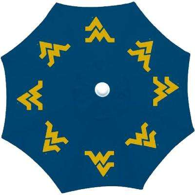 9 ft. University of West Virginia Patio Umbrella in Blue