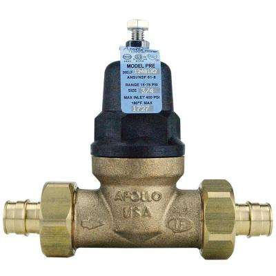 3/4 in. Bronze Double Union PEX-A Expansion Barb Water Pressure Regulator
