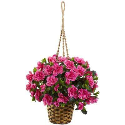 Indoor Azalea Flowering Silk Hanging Basket