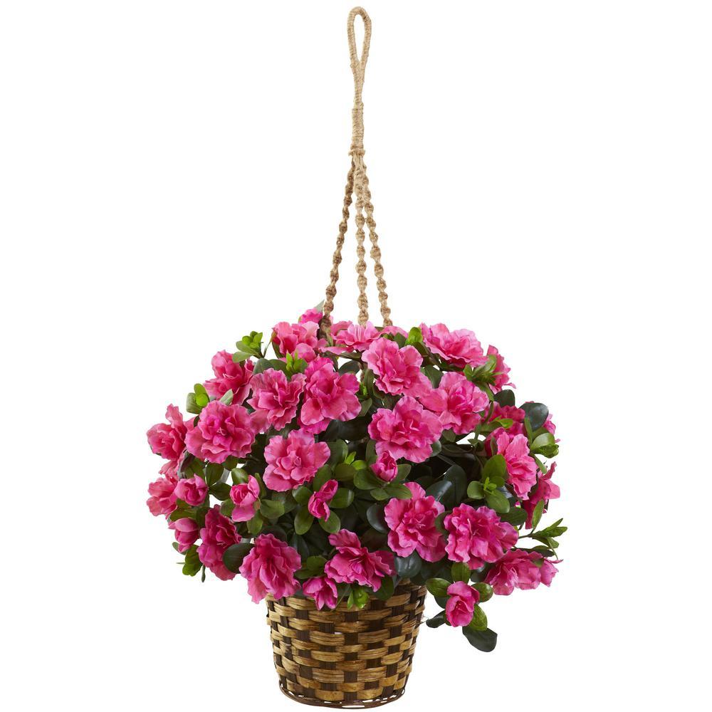 Indoor Azalea Flowering Silk Hanging Basket
