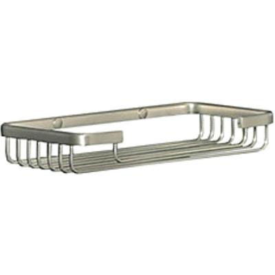 Wiretone Rectangular Sponge Basket in Brushed Nickel