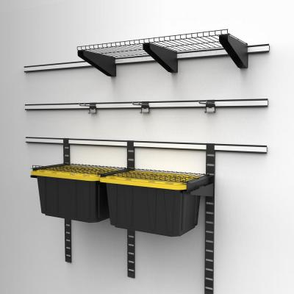 Slat Wall and Track Dual Function Shelf Bracket