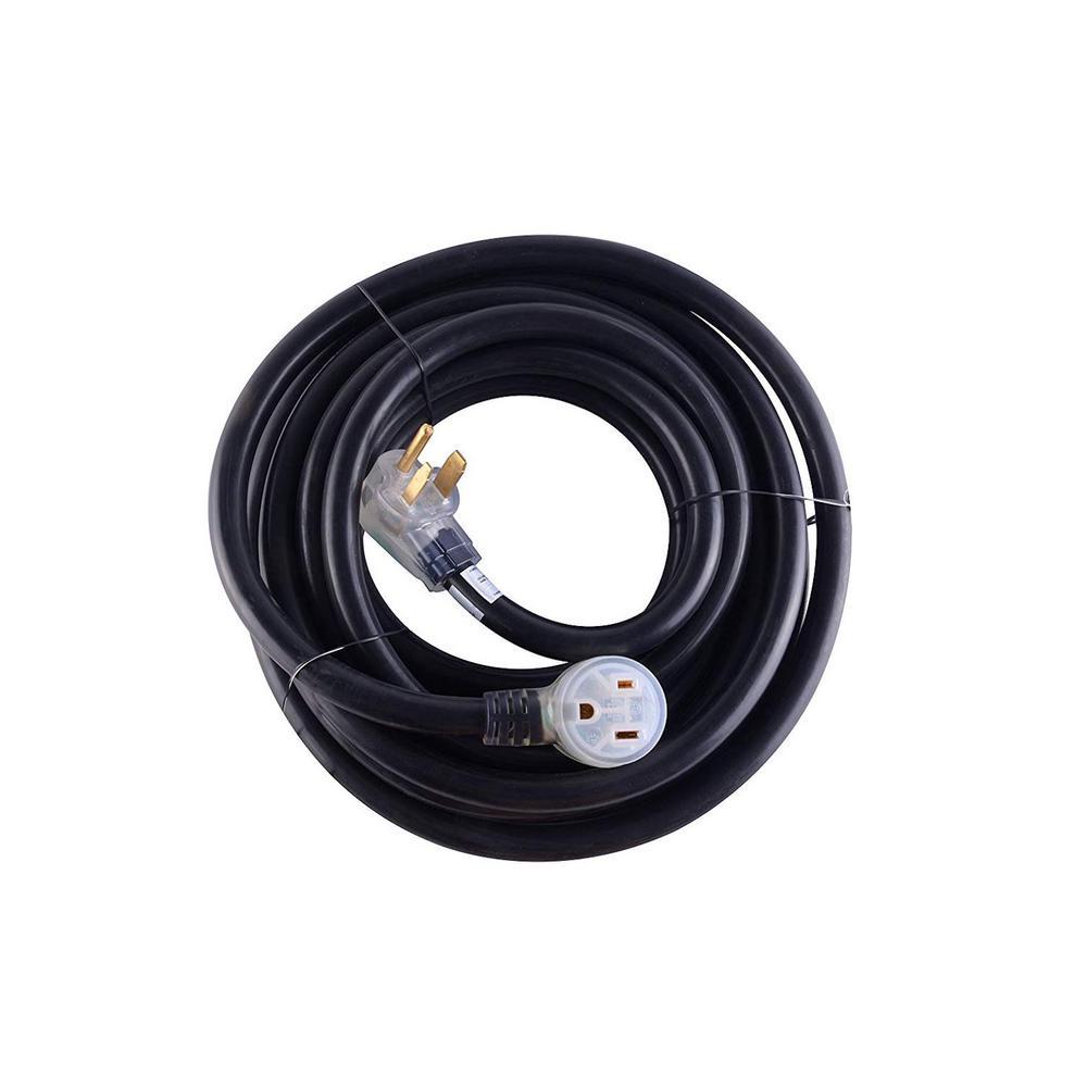 MaxxHaul 40 ft. Heavy-Duty 8 AWG/3C 6-50 NEMA R Plug Lighted Welding Cord with ETL Approved