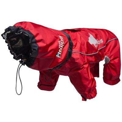 Large Red Weather-King Ultimate Windproof Full Bodied Pet Jacket