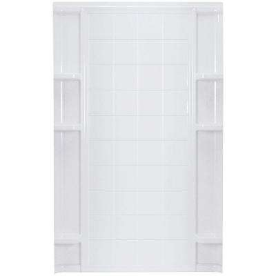 Ensemble 60 in. x 60 in. x 72-1/2 in. 1-piece Direct-to-Stud Shower Wall in White