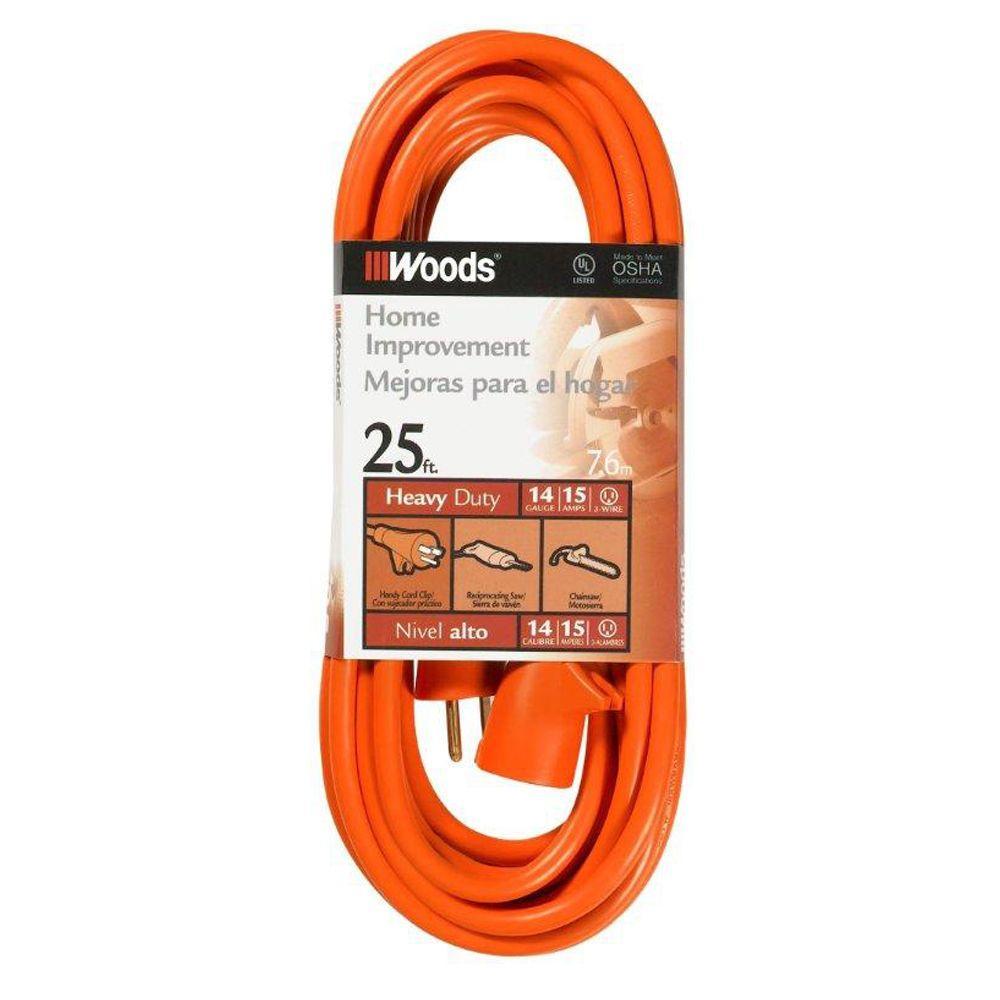 25 ft. 14/3 Outdoor Medium-Duty Extension Cord