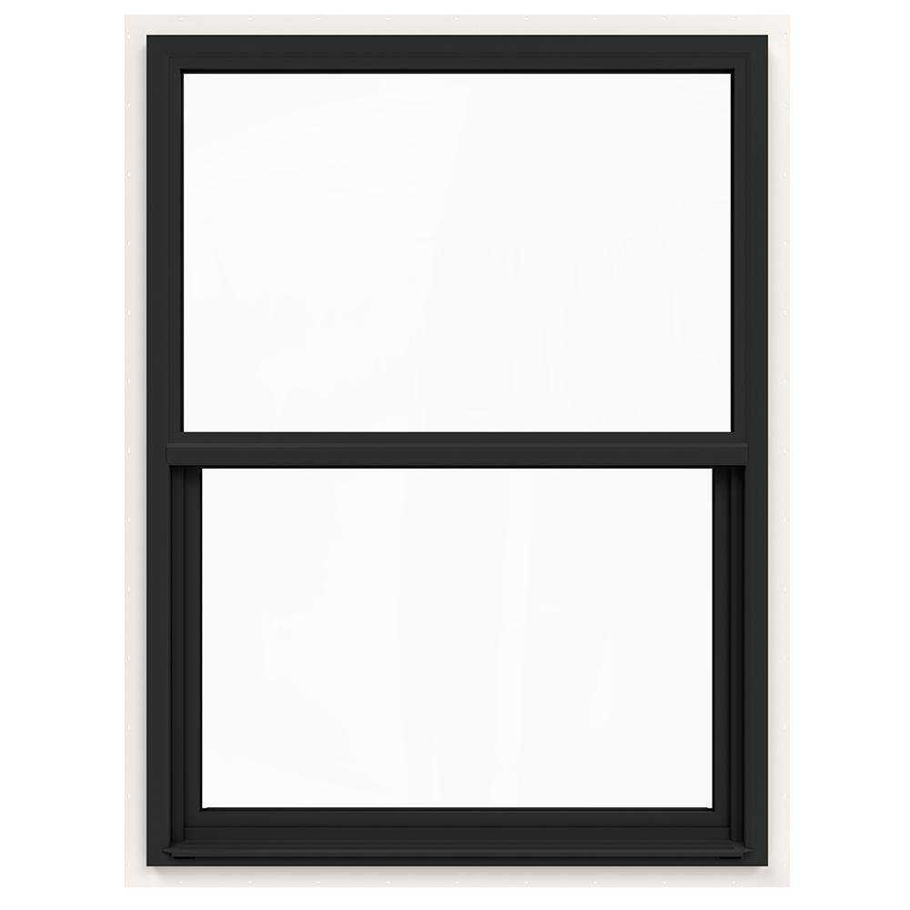 36 in. x 48 in. V-4500 Series Bronze FiniShield Single-Hung Vinyl Window with Fiberglass Mesh Screen