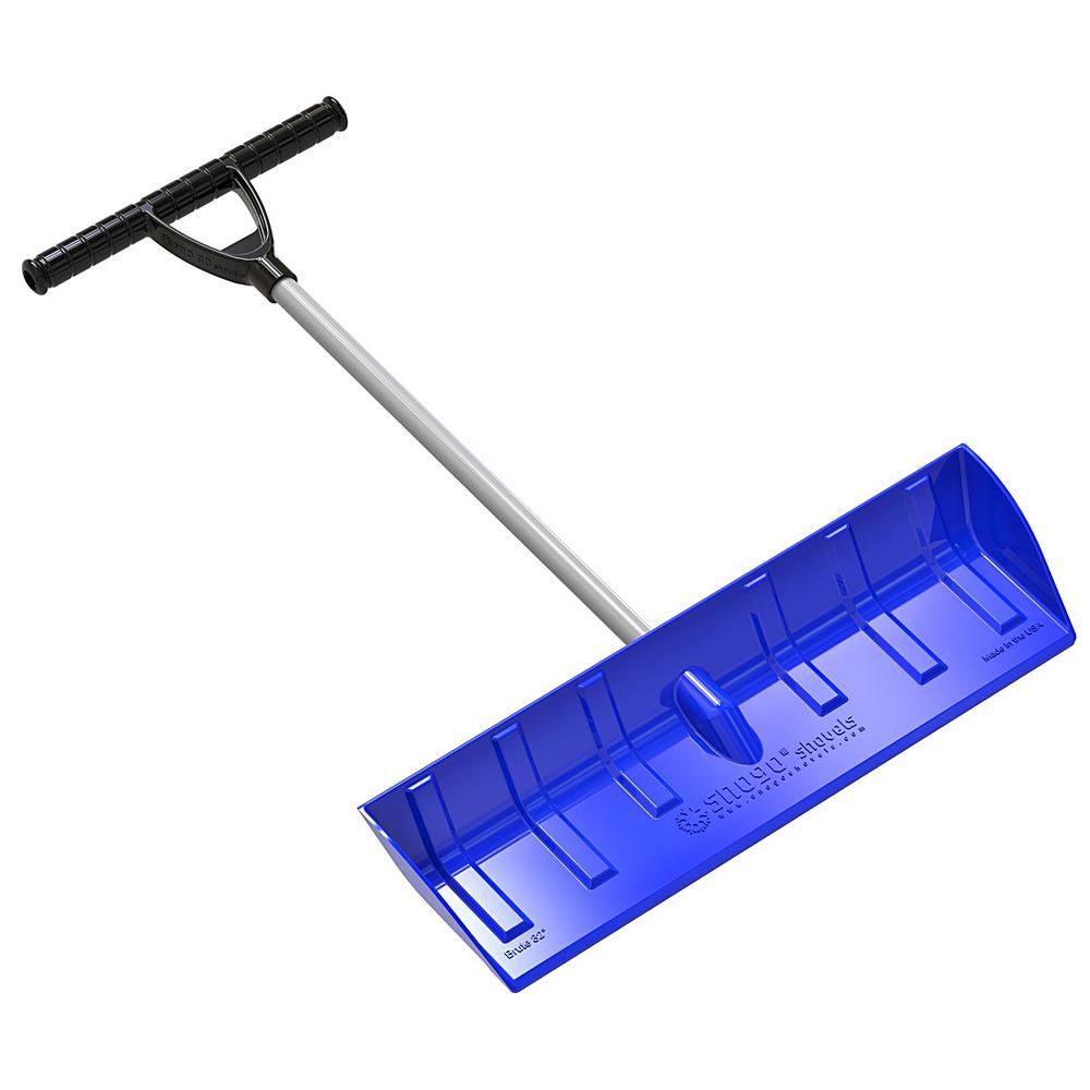 T-Handle Snow Pusher/Scoop in Blue