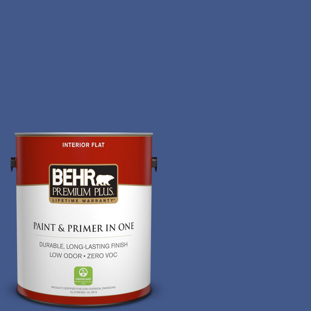 BEHR Premium Plus 1-gal. #S-G-610 Gem Zero VOC Flat Interior Paint