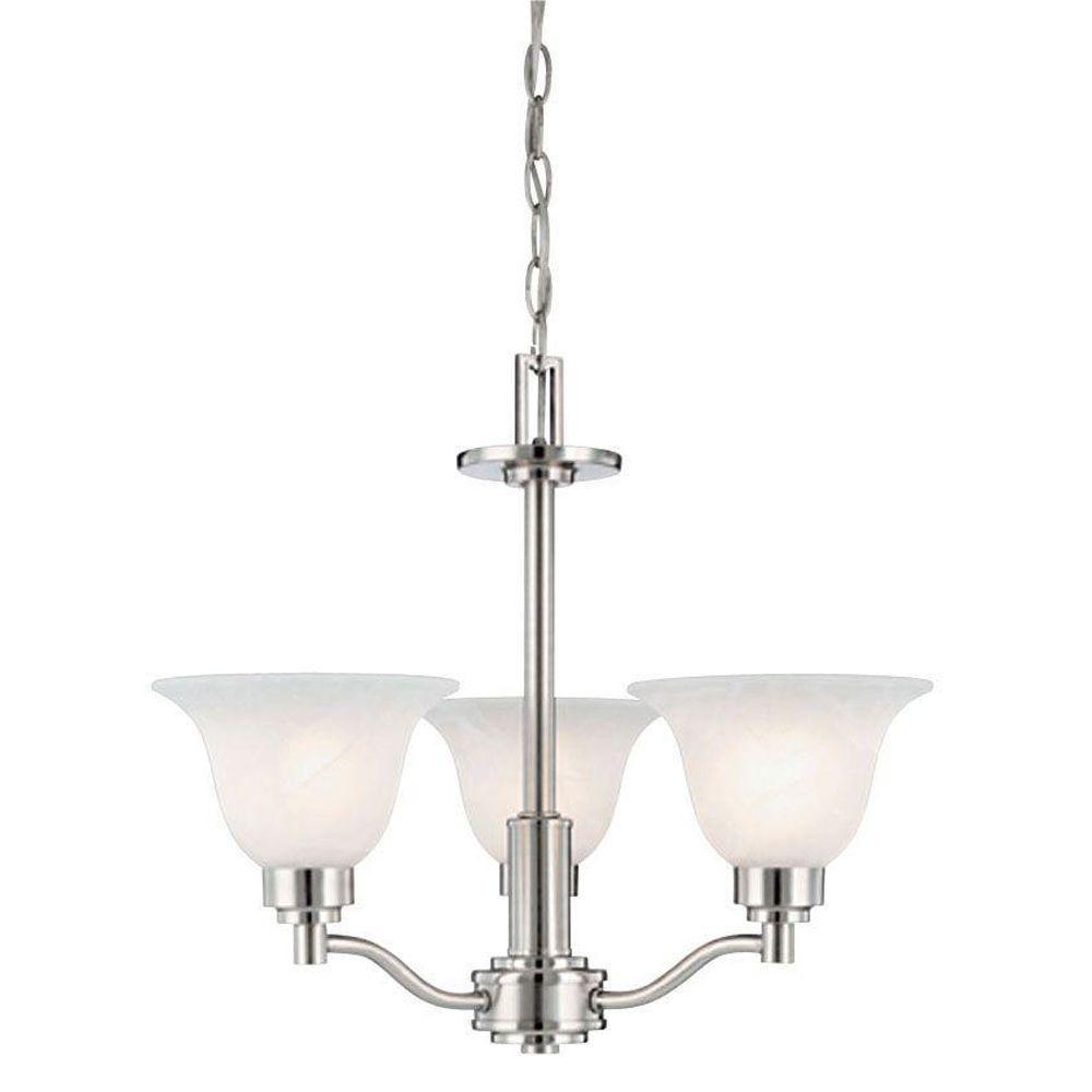 Westinghouse 3-Light Brushed Nickel Interior Chandelier w...