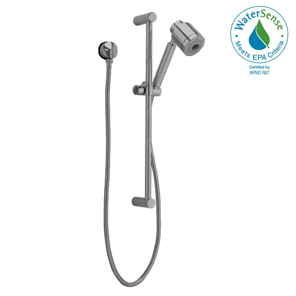 FloWise Modern 3-Spray Wall Bar Shower Kit in Brushed Nickel