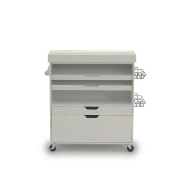 HomeVisions White Craft Work Cabinet