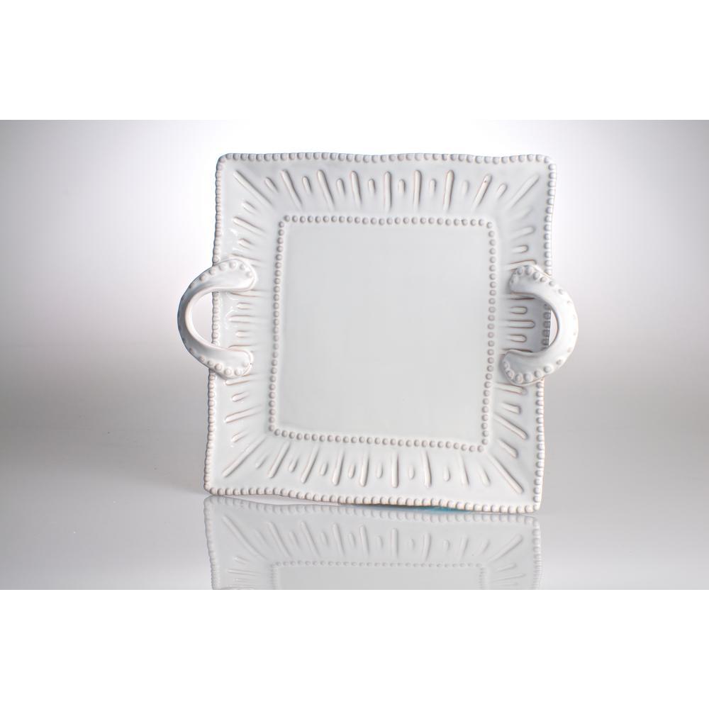 Charlot White Ceramic Platter