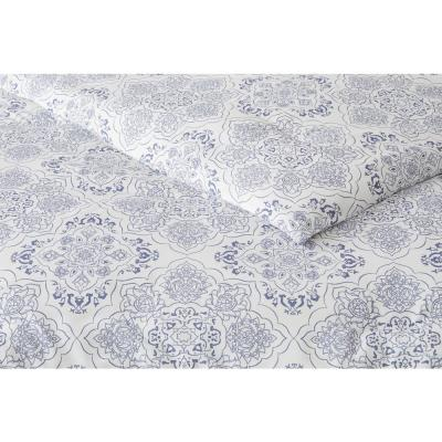 Delancey 3-Piece Steel Blue Medallion Comforter Set