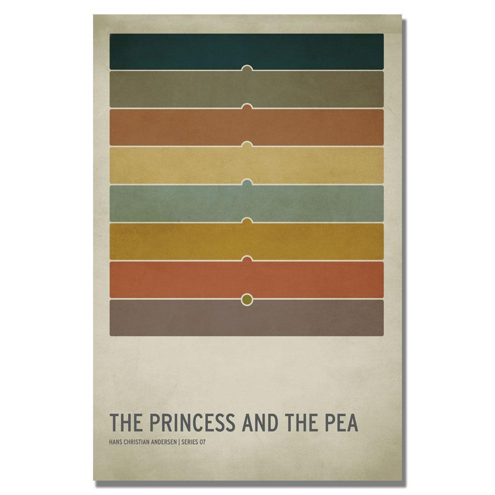 Trademark 24 in. x 36 in. The Princess and the Pea Canvas...