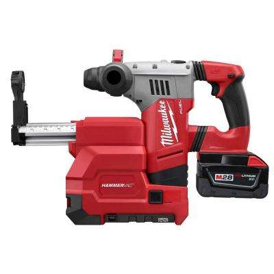 M28 FUEL 28-Volt Lithium-Ion Brushless 1-1/8 in. SDS Plus Rotary Hammer w/ Dust Extractor Kit w/(2) 3.0Ah Batteries