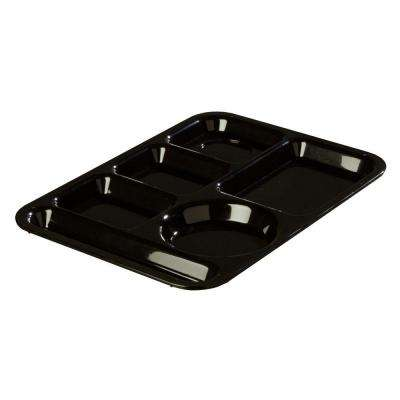 13.87x9.87 in. ABS Plastic Left Hand 6-Compartment Tray in Black (Case of 24)