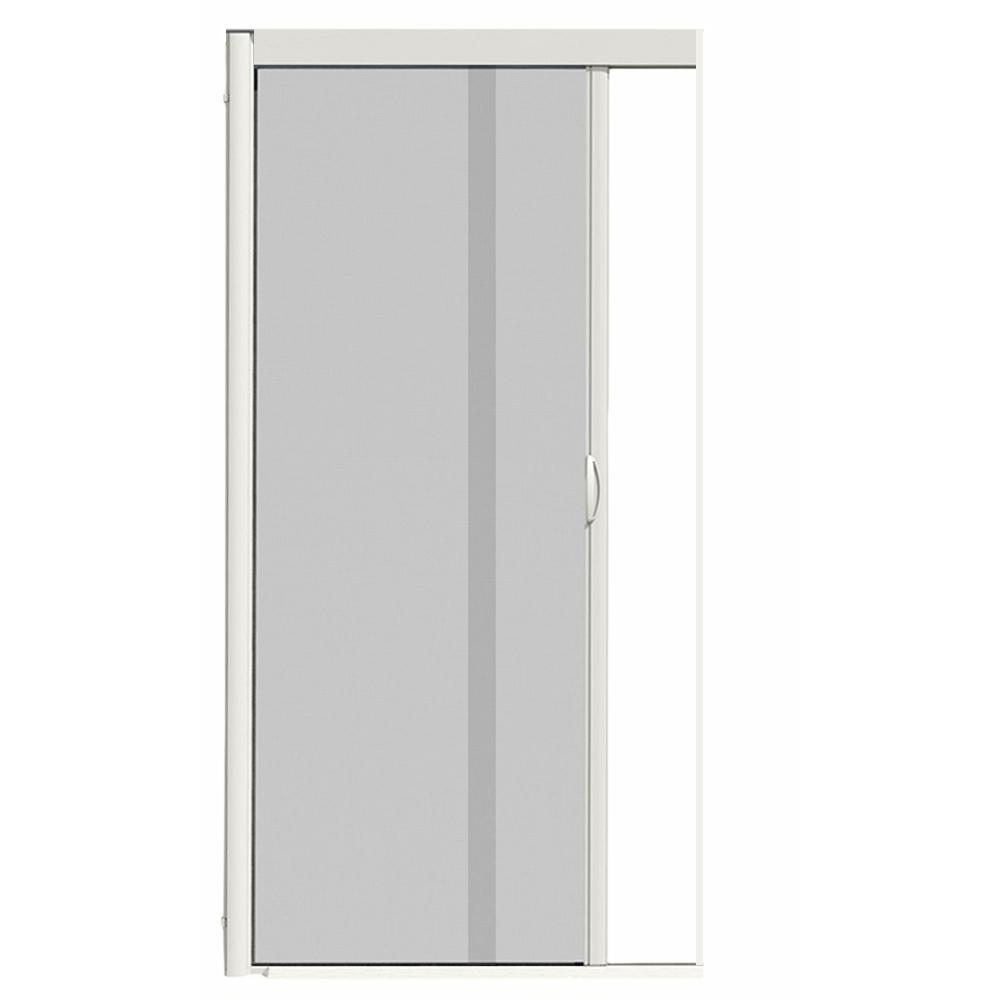 Genial VS1 White Retractable Screen Door, Single Cassette
