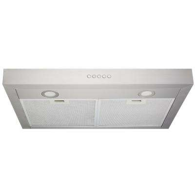 30 in. Under-Cabinet Range Hood in Stainless Steel with LED Light