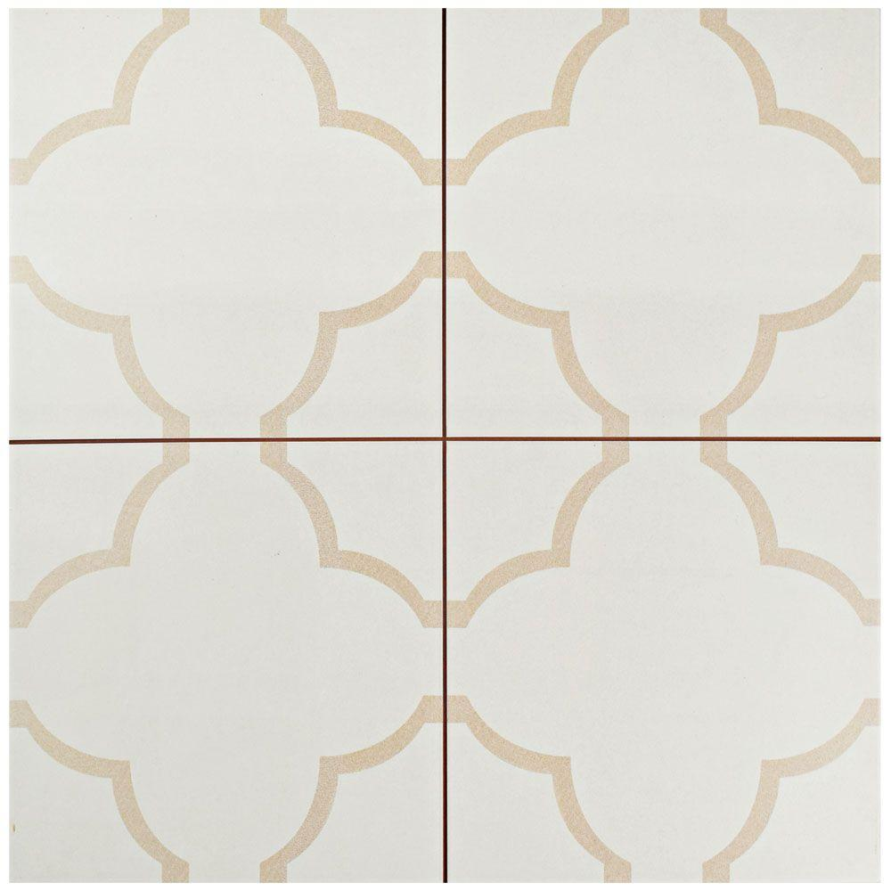 Floor ceramic tile tile the home depot nuvola fondant 17 58 in x 17 58 in dailygadgetfo Images