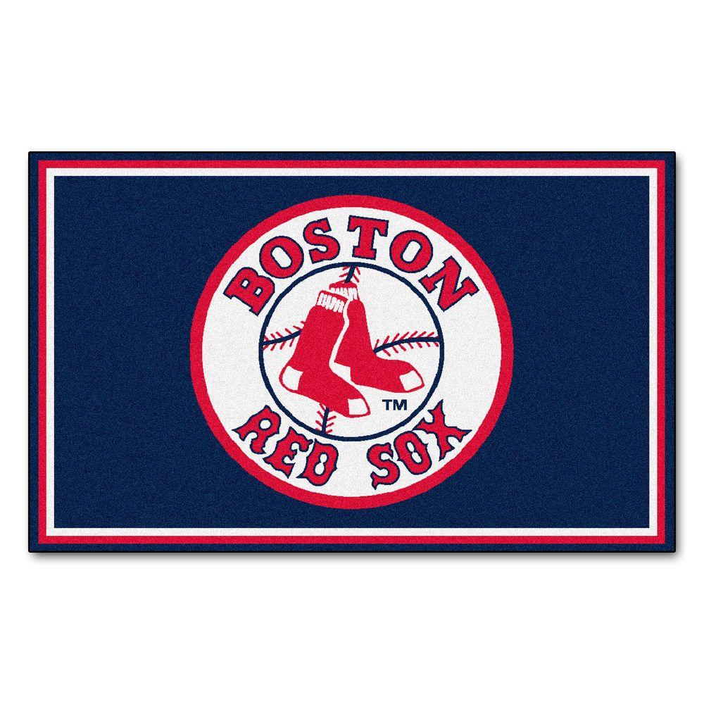 Fanmats Boston Red Sox 4 Ft X 6 Ft Area Rug 6963 The