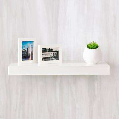 Ravello 24 in. x 2 in. zBoard Paperboard Wall Shelf Decorative Floating Shelf in Natural White
