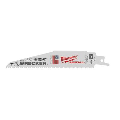 6 in. 7/11 Teeth per in. WRECKER Demolition Mutli-Material Cutting SAWZALL Reciprocating Saw Blades (25 Pack)