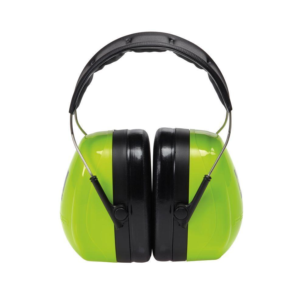 3M Holmes Green High Viz Green Professional Work Wear Earmuffs (Case of 4) by 3M