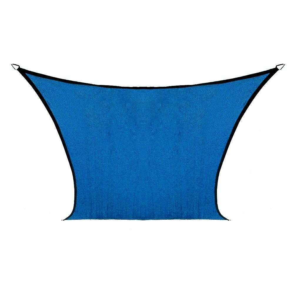Coolaroo Coolhaven 12 ft. x 12 ft. Sapphire Square Shade ...