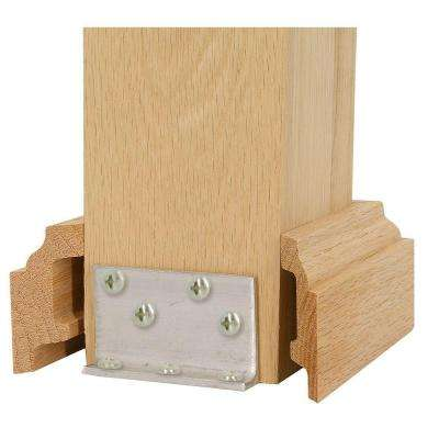 3-1/2 in. Unfinished Poplar Newel Attachment Kit