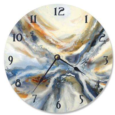 """""""Abstract Geode Red and Blue"""" by Third and Wall Wall Clock"""