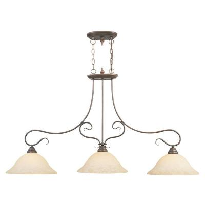 Providence 3-Light Imperial Bronze Incandescent Island Pendant