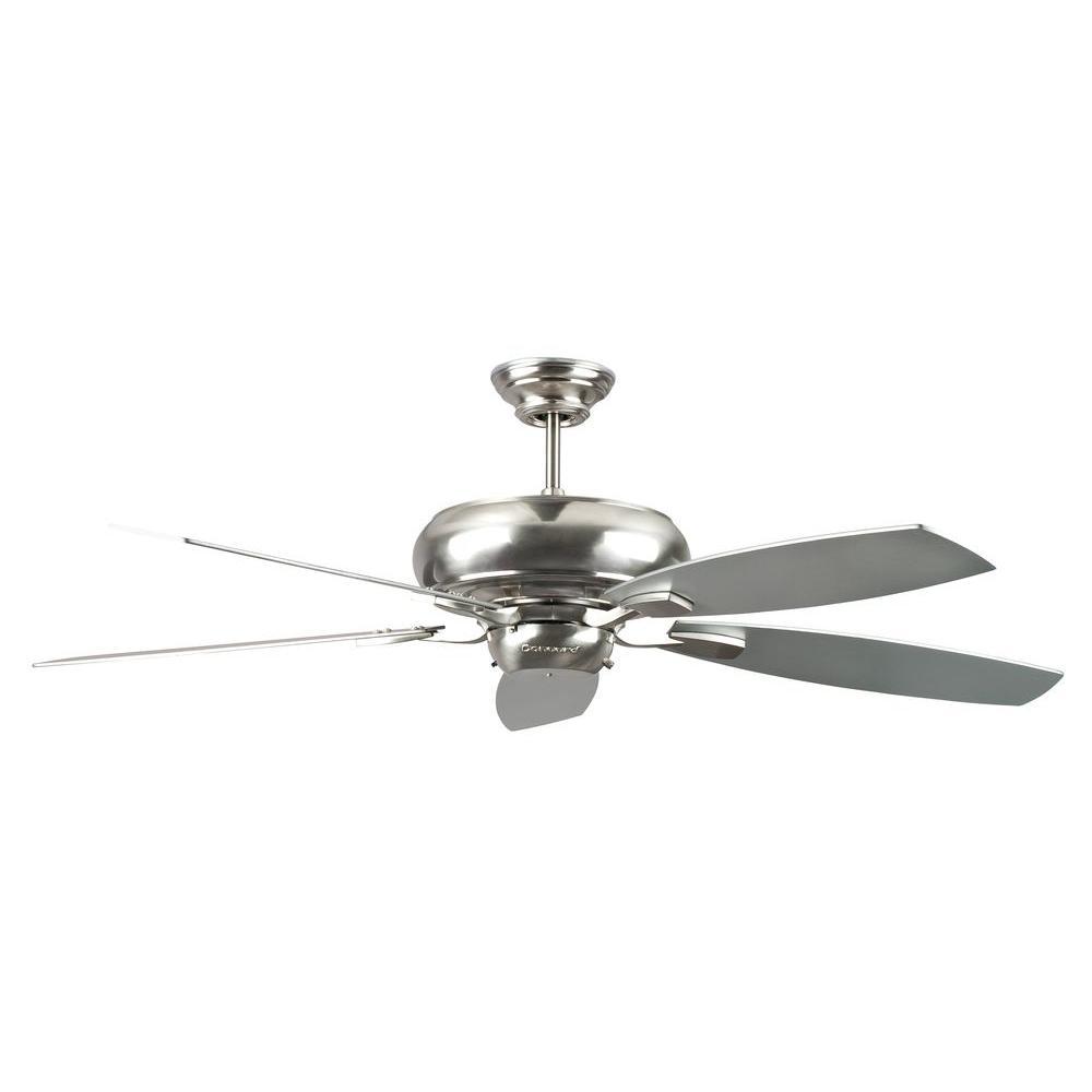 Roosevelt Series 60 in. Indoor Stainless Steel Ceiling Fan