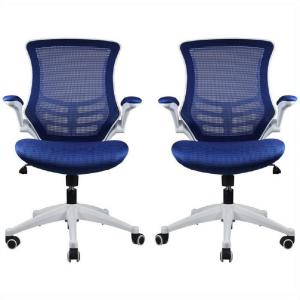 Manhattan Comfort Lenox Mesh Adjustable Royal Blue Office Chair (Set of 2) by Manhattan Comfort