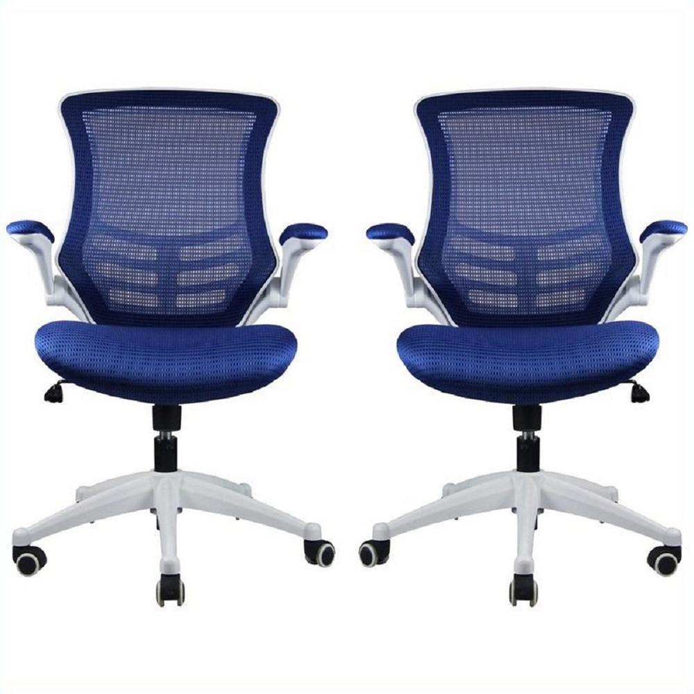 Lenox Mesh Adjustable Royal Blue Office Chair (Set of 2)