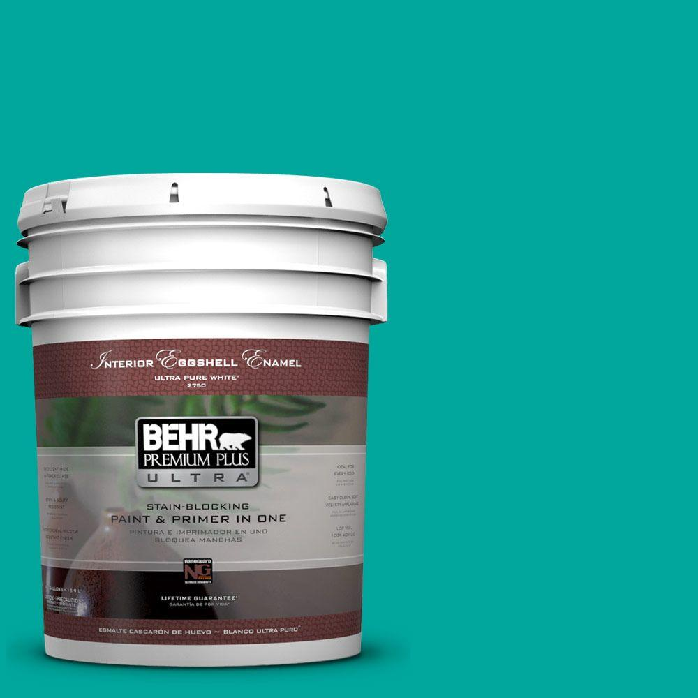 BEHR Premium Plus Ultra Home Decorators Collection 5-gal. #HDC-MD-22 Tropical Sea Eggshell Enamel Interior Paint
