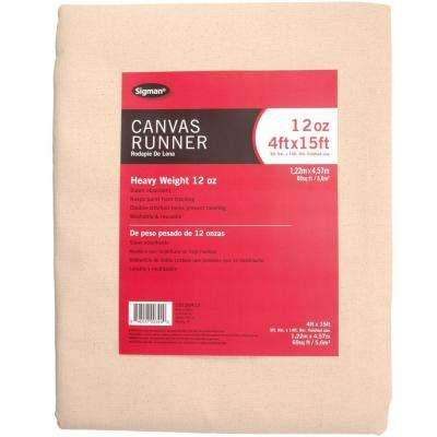 3 ft. 9 in. x 14 ft. 9 in., 12 oz. Canvas Drop Cloth Runner