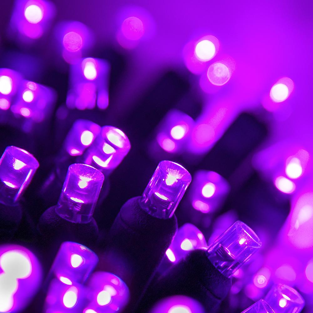 24 ft. 70-Light Purple 5 mm LED Mini Light Set