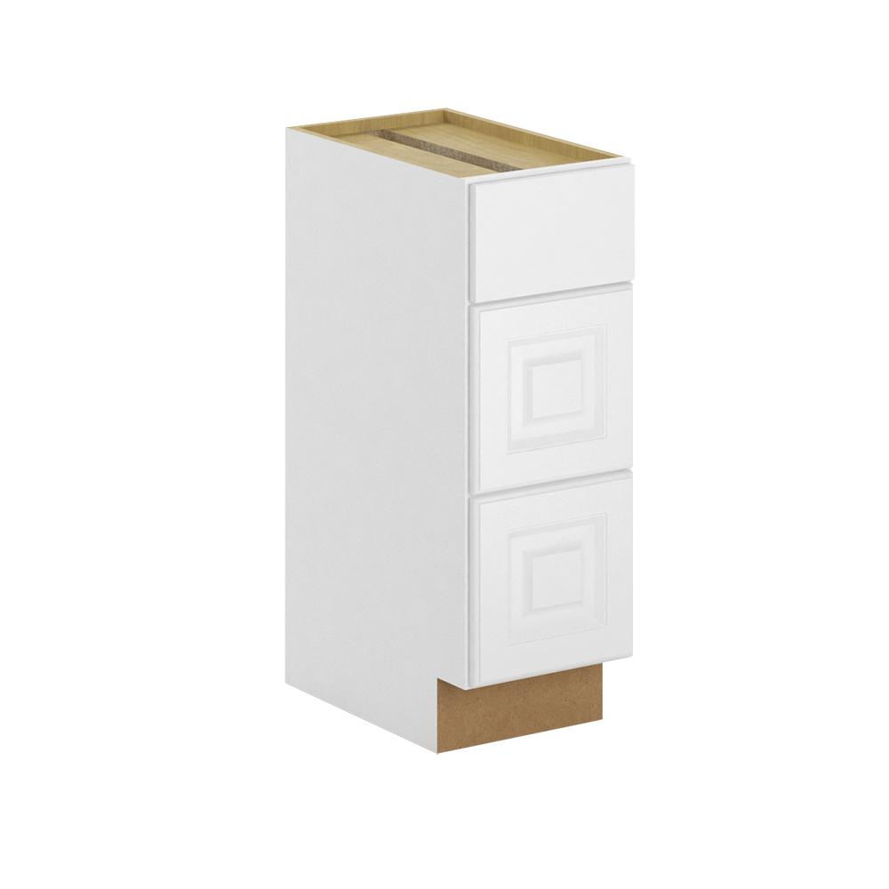 Hampton Bay Madison Assembled In Bathroom Vanity Drawer Base Cabinet In Warm White