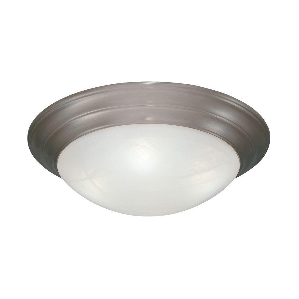 Clovis Collection 3-Light Pewter Ceiling Flushmount