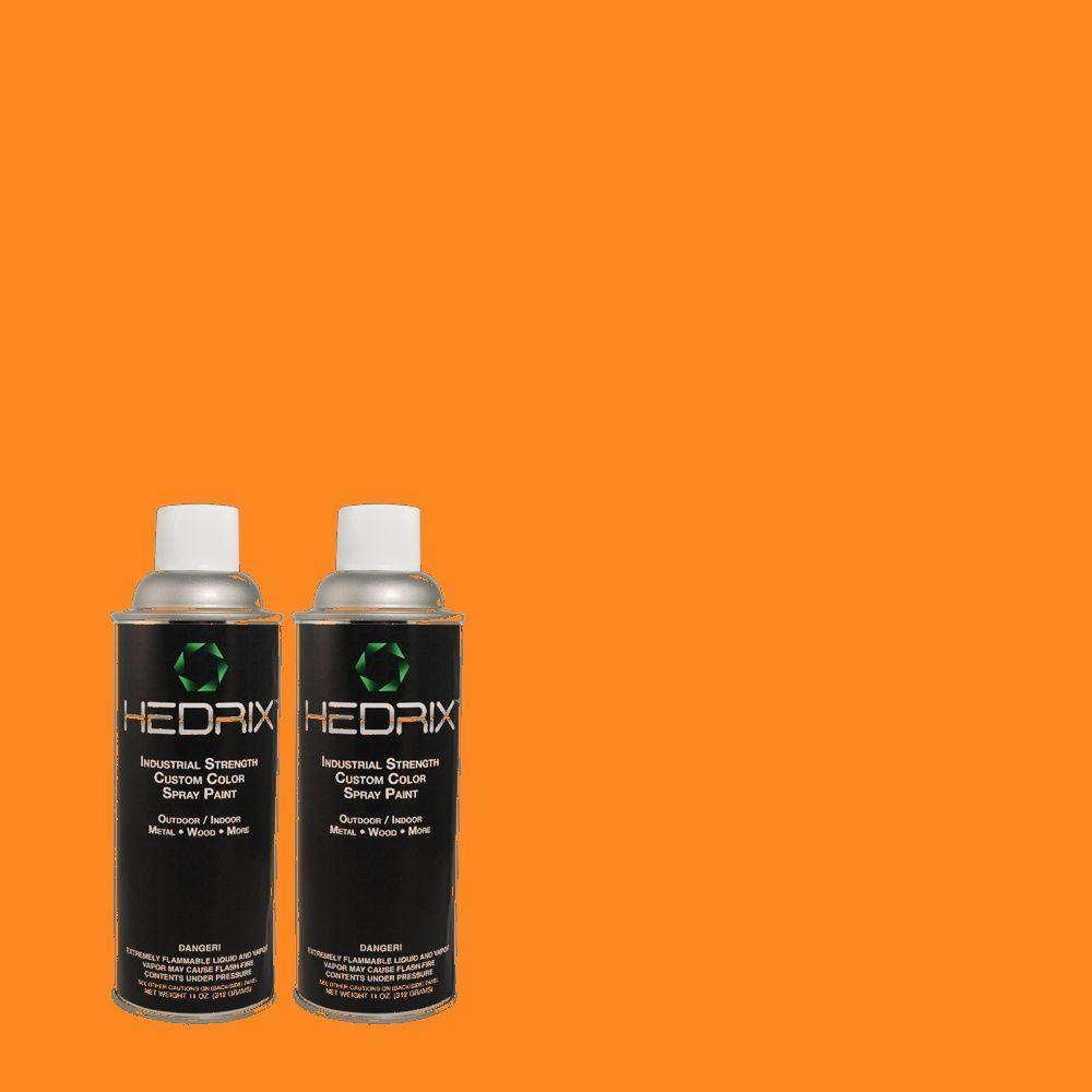 Hedrix 11 oz. Match of S-G-270 Summer Citris Semi-Gloss Custom Spray Paint (2-Pack)