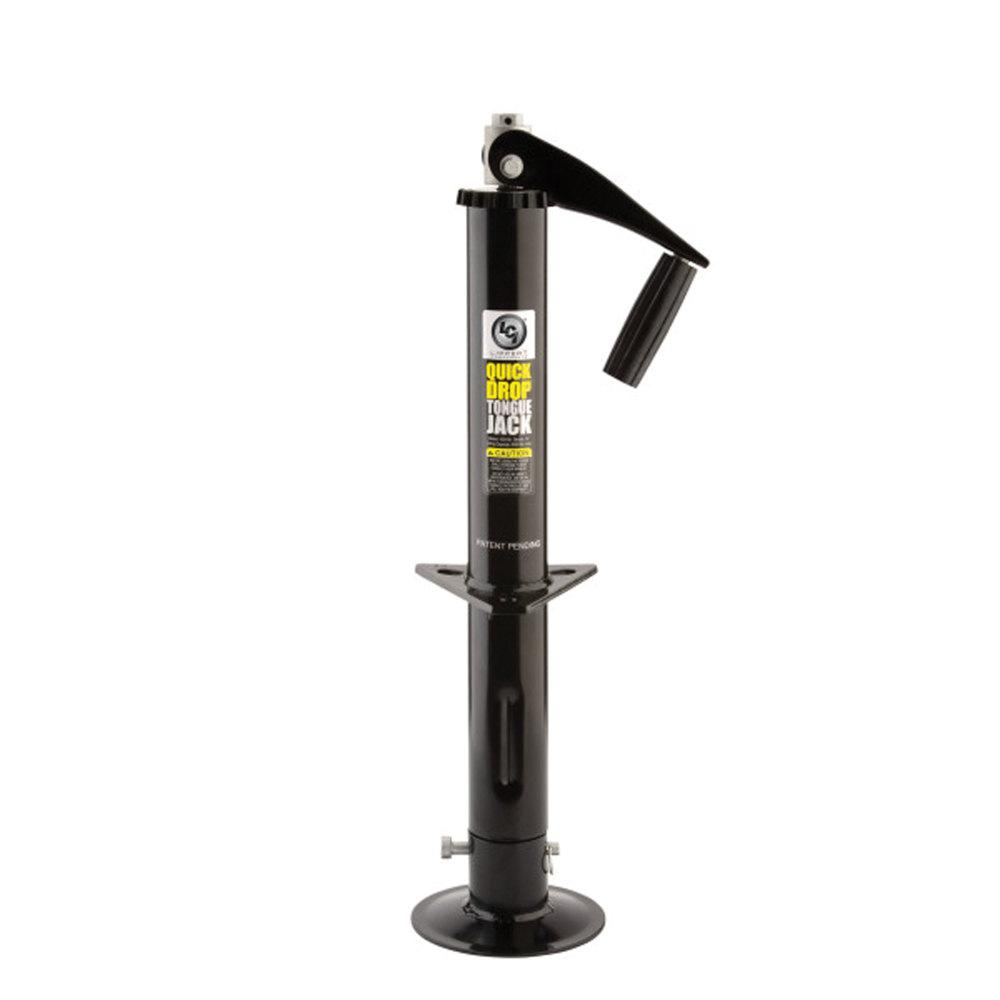 Lippert Components Tongue Jack TW Quick Drop 2K 14 in  Travel in Black