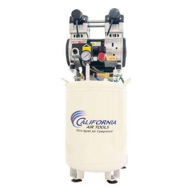 10 Gal. 2 HP Ultra Quiet and Oil-Free Stationary Electric Air Compressor with Air Dryer and Auto Drain Valve