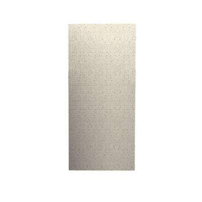 Tangier 1/4 in. x 36 in. x 96 in. One Piece Easy Up Adhesive Shower Wall in Tahiti Desert