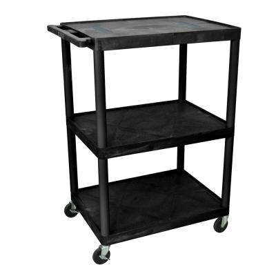 32 in. W x 24 in. D x 48.25 in. H 3-Shelf Utility Cart
