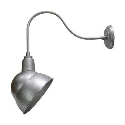 1-Light Silver Outdoor Wall Mount Sconce Light