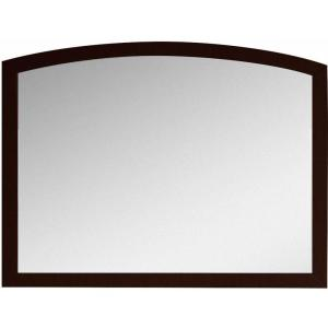 16-Gauge-Sinks 35.43 in. x 25.6 in. Single Framed Wall Mirror in Lacquer-Stain Coffee