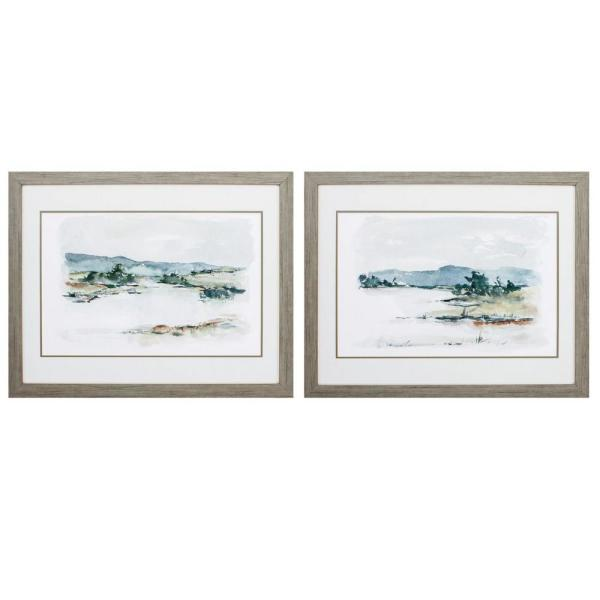 Homeroots Victoria 8 In X 10 In Wood Toned Gallery Frame Set Of 2 365620 The Home Depot
