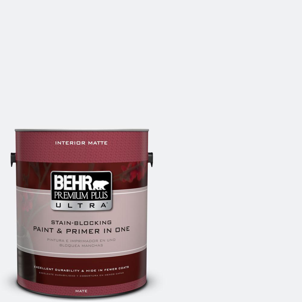 BEHR Premium Plus Ultra 1 gal. #610E-1 Windmill Wings Flat/Matte Interior Paint