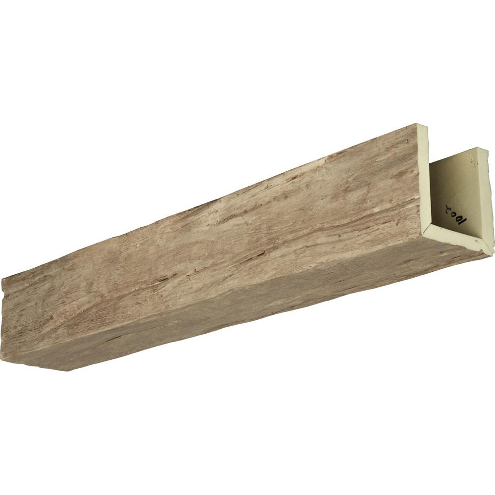 Ekena Millwork 6 In X 10 In X 8 Ft 3 Sided U Beam Riverwood Natural Pine Faux Wood Beam Bmrw3c0100x060x096pp The Home Depot